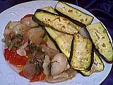 Image : Assiette de courgettes à l'ail des Carmélites