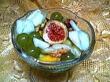 Recette Coupe de fruits au curaçao