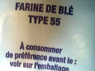 Farine de type 55