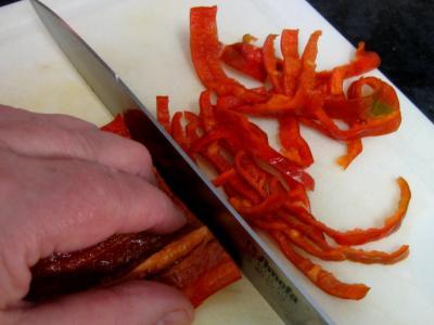 Emincer les piments