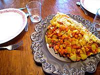 omelette au potimarron et au chèvre