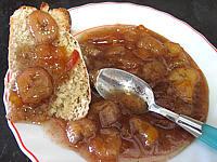nectarine : Soucoupe de marmelade de nectarines et bananes
