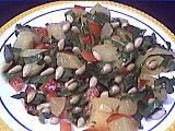 ketchup : Assiette de salade aux pignons