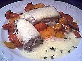 Recette Assiette de roussette sauce vin blanc
