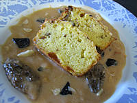 madère : Assiette de sauce à la truffe