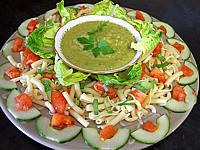 salade Mexicaine et sa sauce guacamole