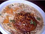 Recette Plat de soupe de potiron au pain