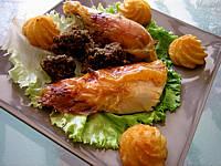 Foie de poulet : Assiette de poulet farci