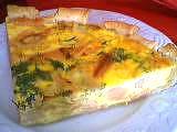 Cuisine diététique : Part de tarte au saumon