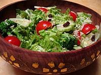 Salade de batavia et riz