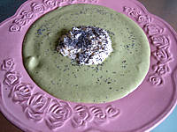 Image : Assiette de purée de navets au chèvre