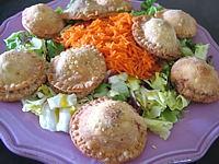recettes avec garniture : Assiette de rissoles au foies de volaille