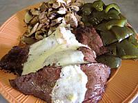 Steak de cheval et sa sauce au Martini