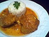 Recette Assiette de poulet au lait de coco