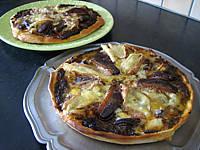 Image : recette Pizza au magret et coeurs de canard