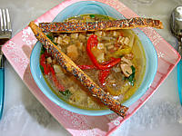 lentille : Plats de soupe de lentilles aux crozets