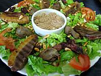 Image : Assiette de salade landaise aux rillettes