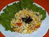 Recette Assiette de salade de riz au thon