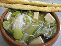 sauce tamari : Bol de soupe chinoise au tofu