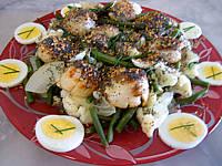 Image : Salade de noix de saint-Jacques