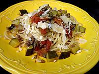 viande hachée : Assiette se spaghettis aux courgettes