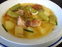 Recette Assiette de soupe au lard et patates douces
