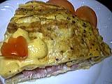 Recette Part d'omelette farcie au crabe