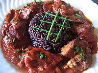 abats de volaille : Assiette de foies de volaille au curry