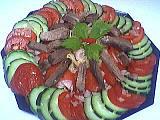 sans cuisson : Assiette de langue en salade