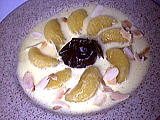 sabayon : Assiette de sabayon mandarines au floc de Gascogne