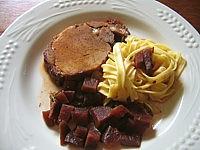Recette Assiette de rôti de porc au Porto
