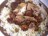 Image : Assiette de poulet façon Marengo