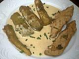 Image : Assiette de dinde sautée aux aubergines
