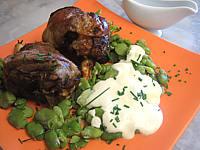 souris d'agneau aux fèves et parmesan