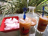 Recette Verres de boisson pêches et melon au gingembre