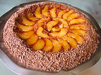 gâteau aux poires et sa crème