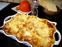 saint agur : Plat de lasagnes au potimarron et saint-agur