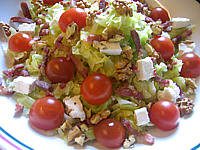 Salade compose de tomates