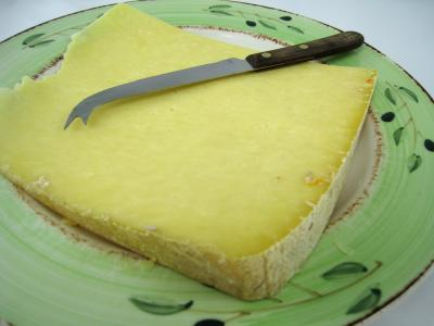 Photo : Fromage cantal en morceau