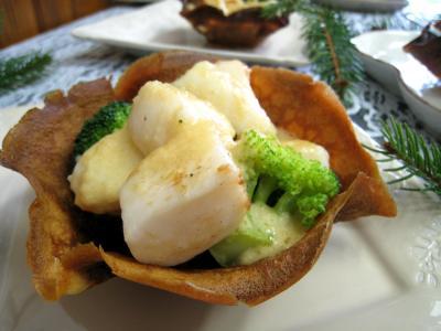 Image : recette Coupelles de crêpes farcies aux encornets