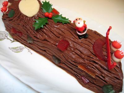 Image : Bûche au chocolat de Noël