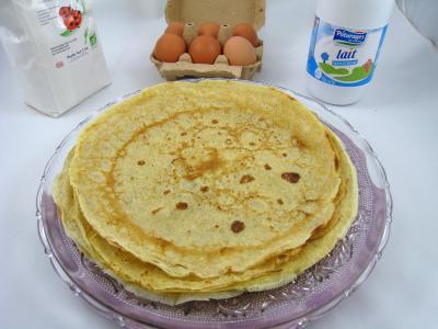 huile d'arachide : Assiette de crêpes