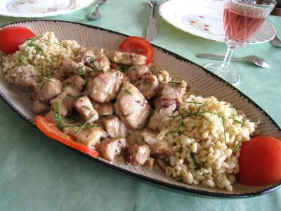 Photo : Ris de veau au Bourbon et aux amandes