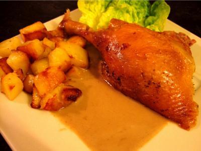 Recette Assiette de canard sauce au foie