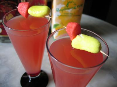 Recette Verres de cocktail de liqueur de litchis