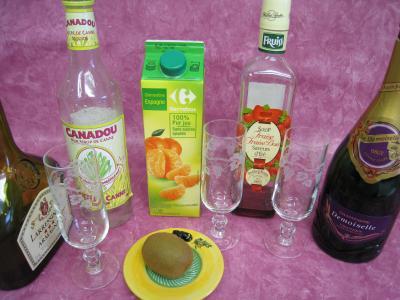 cocktail de Pâques au Champagne