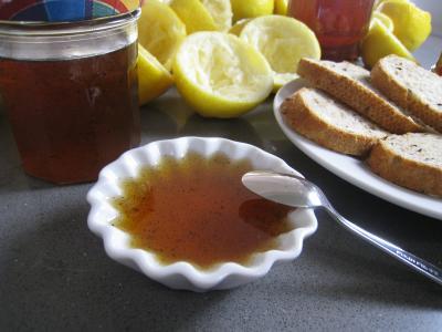 Image : Ramequin de gelée au citron et à la vanille