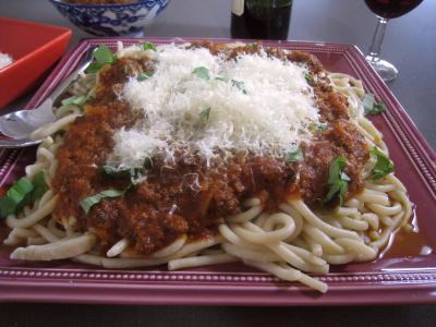 Recette Pâtes spaghettis à la bolognaise