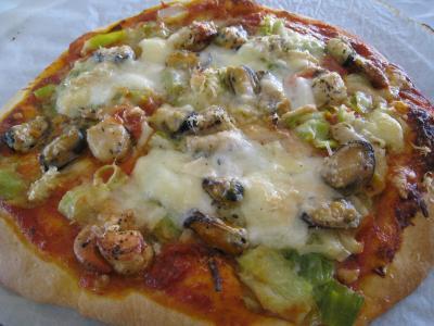 Pizza marinara et Pecorino