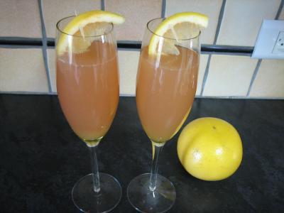 Recette Flûtes de kir au pomelo